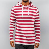 Just Rhyse Stripes Hoody White/Red