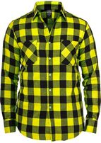 Urban Classics Checked Flanell Shirt Yellow Black