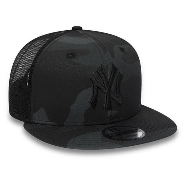 66216369 ... New Era 9Fifty MLB League Essential Trucker Cap Black Camo ...