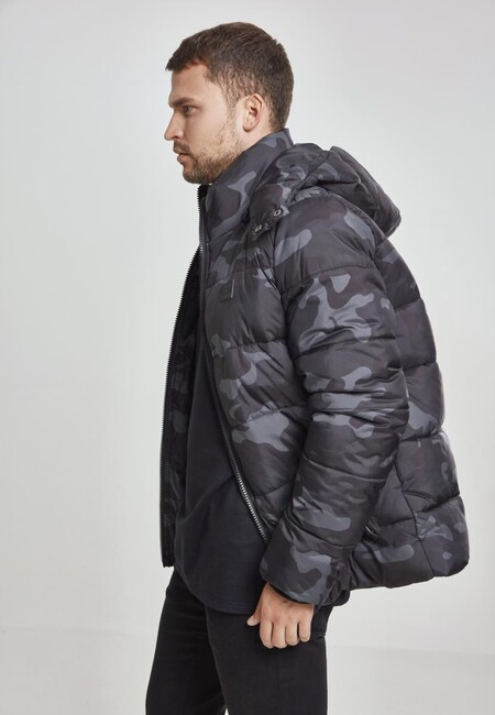 46b1dc3f6c35a Urban Classics Hooded Camo Puffer Jacket darkcamo - Gangstagroup.com ...