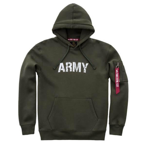 100% najwyższej jakości Całkiem nowy kupować nowe Alpha Industries Army Nav Hoody Army Green - Gangstagroup ...