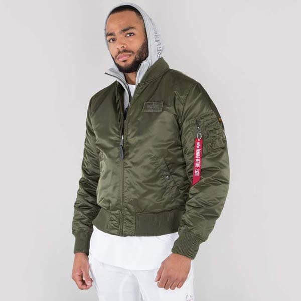 Alpha Industries MA-1 D-Tec Jacket Dark Green - Gangstagroup.com ... 7b3611fd920