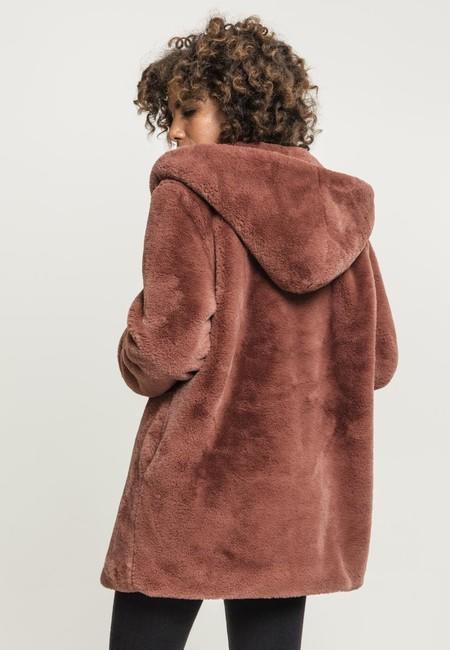 Urban Classics Ladies Hooded Teddy Coat
