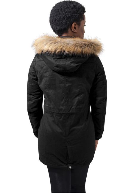 Urban Classics Ladies Sherpa Lined Peached Parka | real