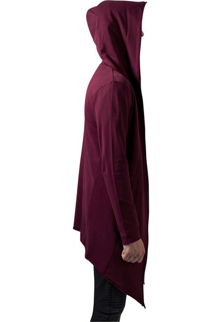 416d26fc9 Urban Classics Long Hooded Open Edge Cardigan burgundy ...