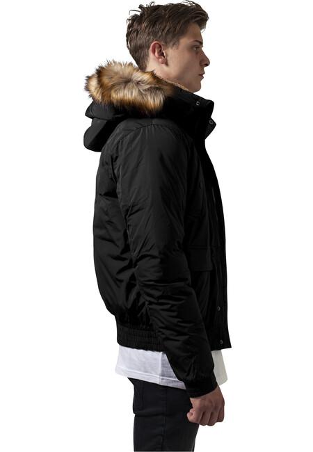 Urban Classics Hooded Heavy Bomber Jacket black - Gangstagroup.com ... ae8af0e8a36