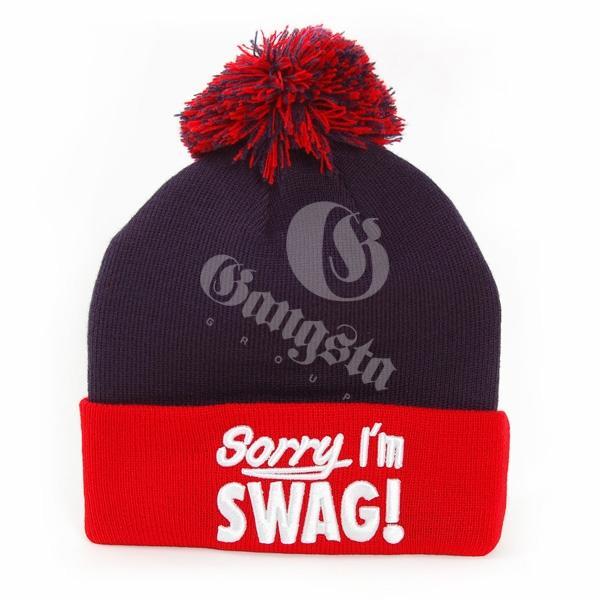 608327fed34 GangstaGroup Sorry I`m Swag! Winter Cap Navy Red - Gangstagroup.com ...