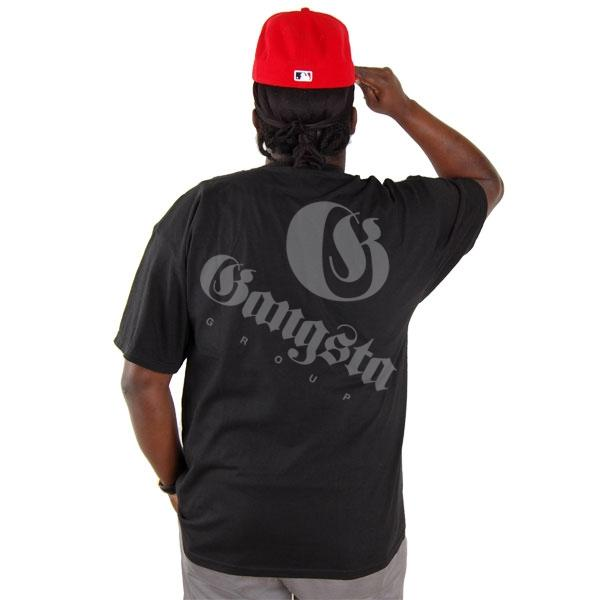 Black Wall Street Clothing the black wall street shield logo tee black - gangstagroup