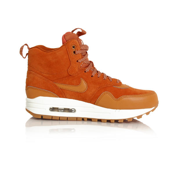 new style b47cd 1c520 ... Nike WMNS Air Max 1 Mid Sneackerboot Tawny Sail Gum Med Brown  685267-200 ...