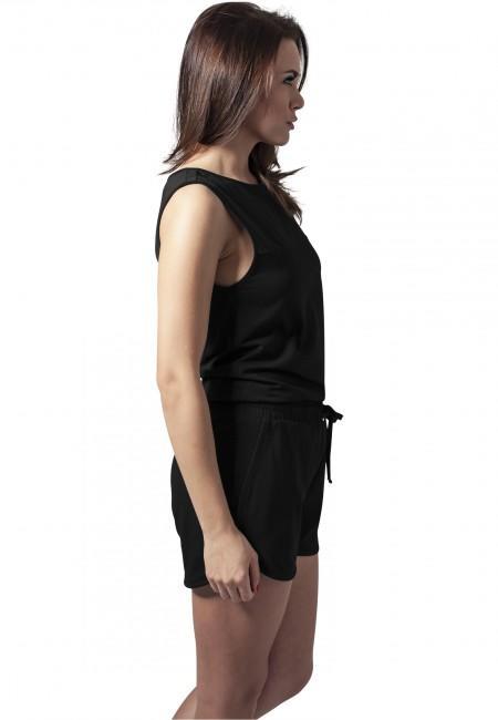 Urban Classics Ladies Tech Mesh Hot Jumpsuit black