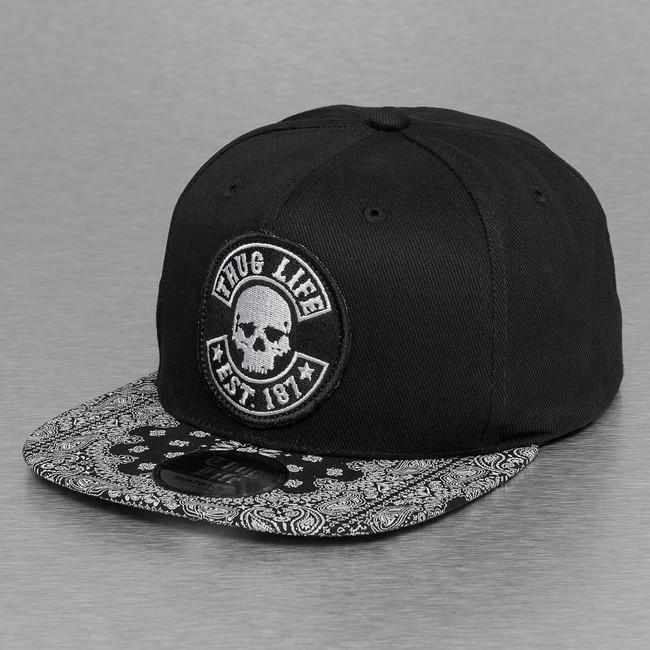Thug Life Paisley Snapback Cap Black - Gangstagroup.com - Online Hip ... 710a2b26249