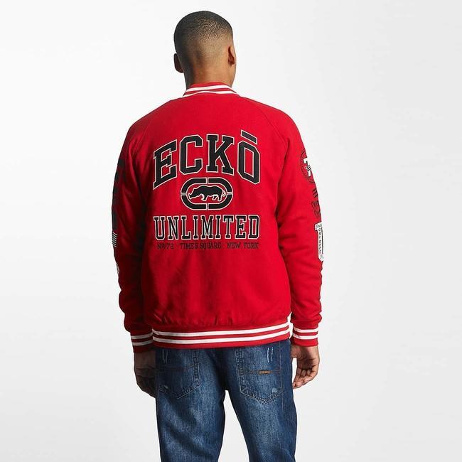 Ecko Unltd  / College Jacket Big Logo in red - Gangstagroup com
