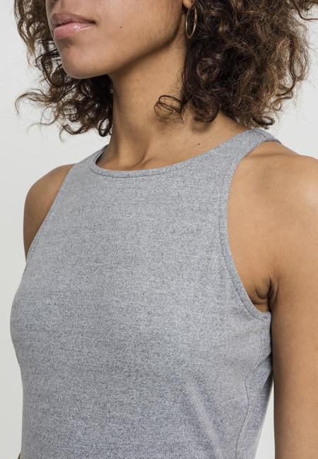 Urban Classics Ladies Back Cut Out Dress grey