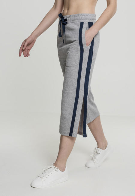 Urban Classics Ladies Taped Terry Culotte grey/navy