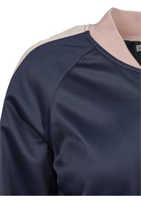 Urban Classics Ladies Button Up Track Jacket navy/lightrose/white