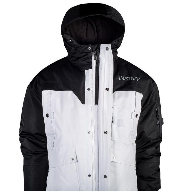 ... Amstaff Conex Winterjacke 2.0 - schwarz/weiß ...