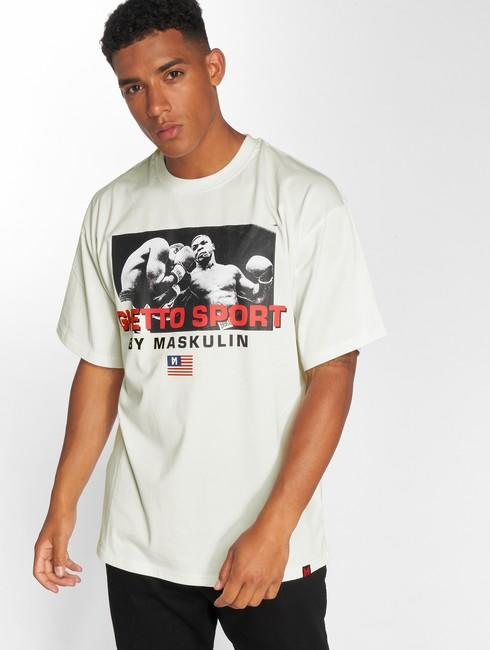 maskulin t shirt ghetto sport tyson oversize in white online hip hop. Black Bedroom Furniture Sets. Home Design Ideas