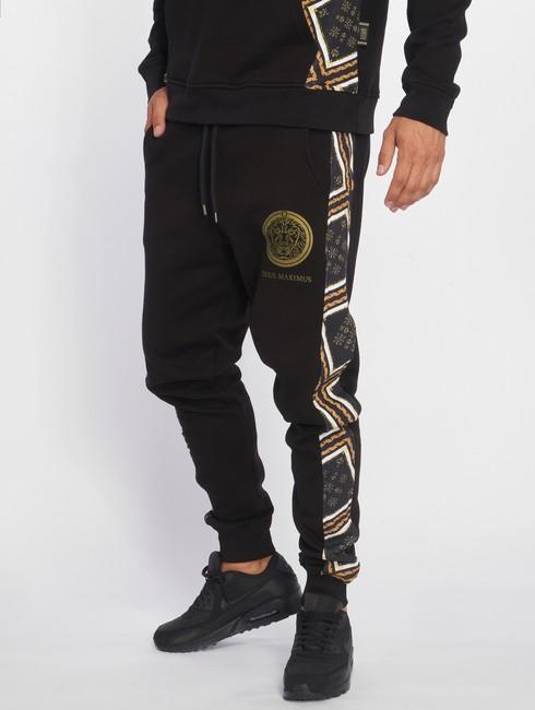 deus maximus sweat pant gianni in black online hip hop fashion store. Black Bedroom Furniture Sets. Home Design Ideas
