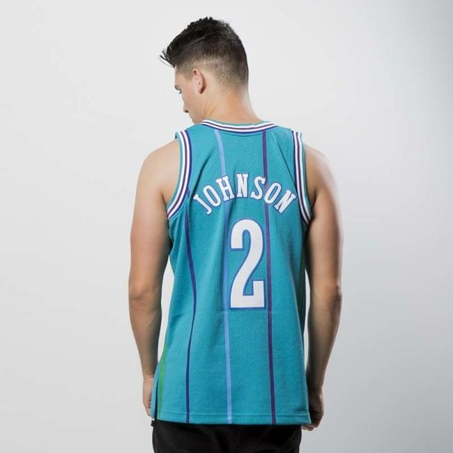 new products b0ae6 d44e6 Mitchell & Ness Charlotte Hornets #2 Larry Johnson blue ...