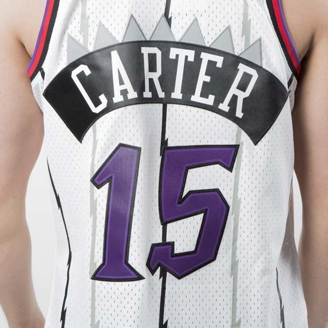 sale retailer 8e2d9 b16d4 Mitchell & Ness Toronto Raptors #15 Vince Carter white ...