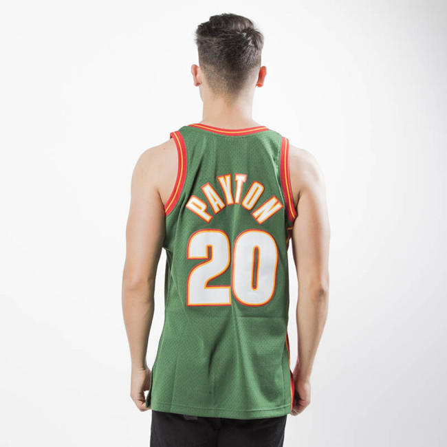 pretty nice a0ddc df9ed Mitchell & Ness Seattle SuperSonics #20 Gary Payton green ...