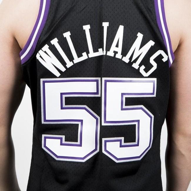 size 40 3adc5 a8e5b Mitchell & Ness Sacramento Kings #55 Jason Williams black ...