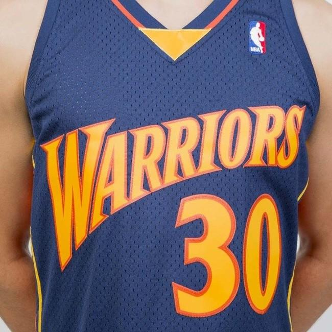 best website 0e232 25225 Mitchell & Ness Golden State Warriors #30 Stephen Curry navy ...