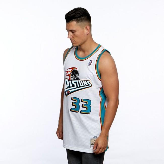 reputable site 27e9b 04e4d Mitchell & Ness Detroit Pistons #33 Grant Hill white ...