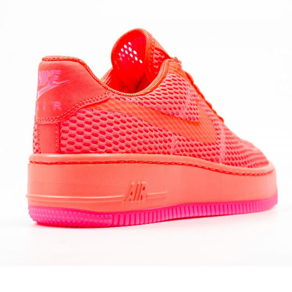 Nike WMNS Air Force 1 Low Upstep BR Total Crimson 833123 800