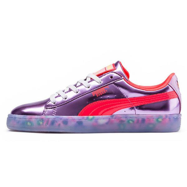 Puma X Sophia Webster Basket Candy Princess Metallic PInk Fiery Coral e03dbb88c