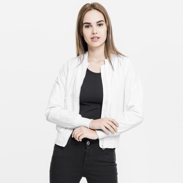 7a6a23a8f Urban Classics Ladies Light Bomber Jacket white - Gangstagroup.com ...