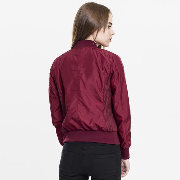 182a2c8460e746 Urban Classics Ladies Light Bomber Jacket burgundy - Gangstagroup ...