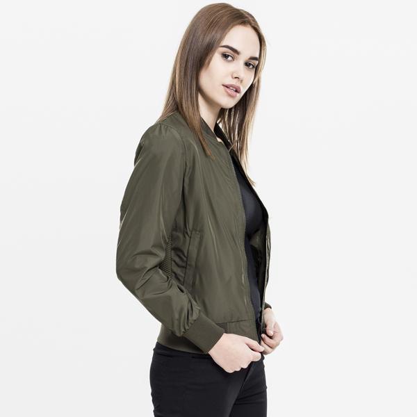 5fe25ee04 Urban Classics Ladies Light Bomber Jacket olive - Gangstagroup.com ...