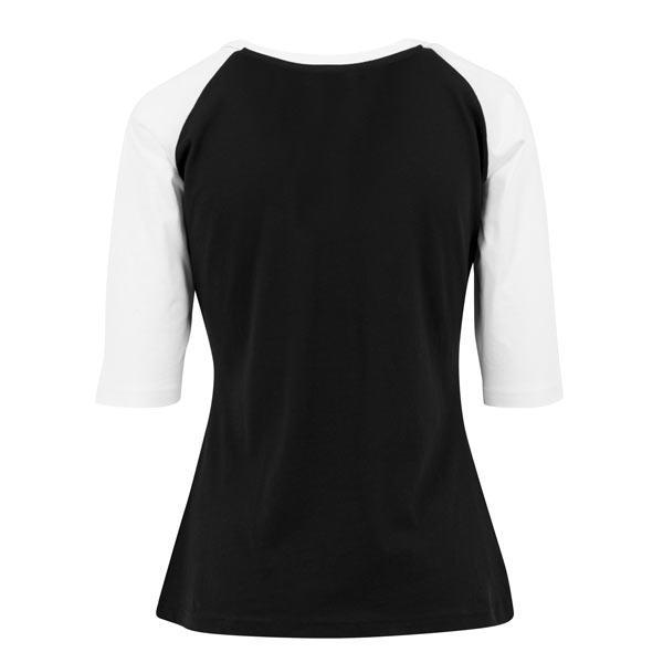 Urban Classics Ladies 3//4 Contrast Raglan Tee TB733 Black White
