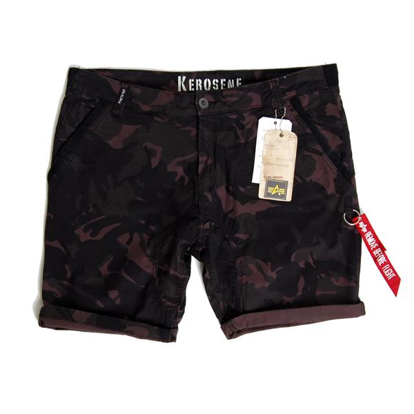 Kerosene Short Camo Black - 38