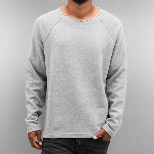 Bangastic Unfinished Hems Sweatshirt Grey Melange - Gangstagroup.com ... fdef740ae3