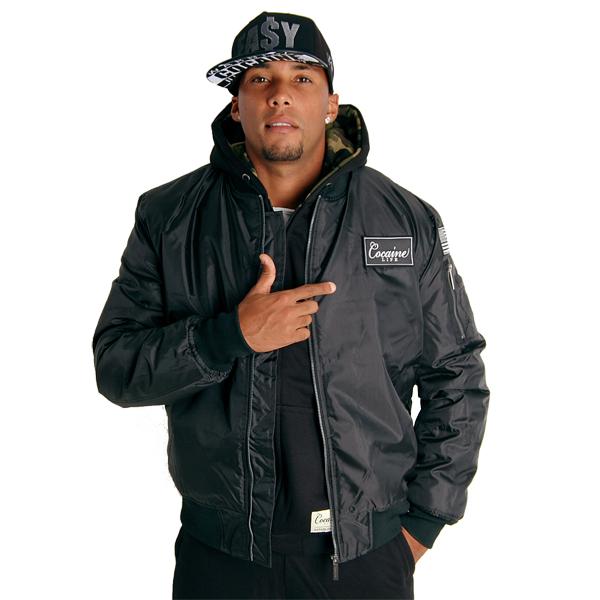 Cocaine Life Basic Bomber Jacket Black - Gangstagroup.com - Online Hip Hop Fashion Store