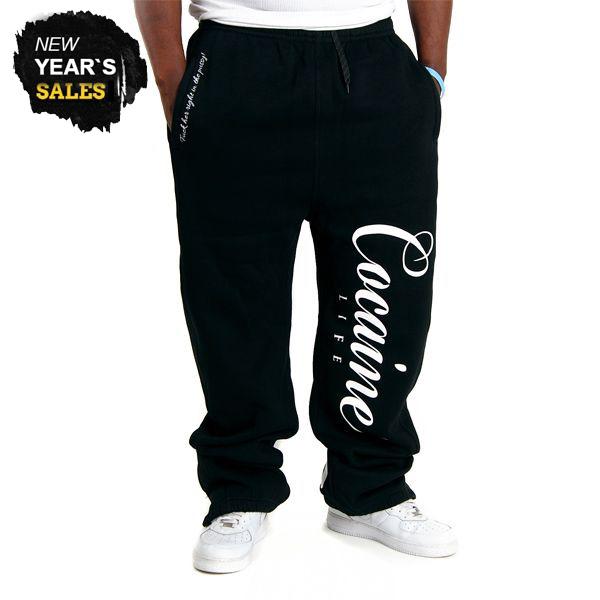 Basic Logo Sweatpants Black - 3XL