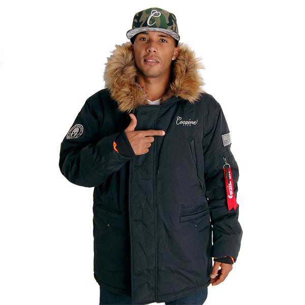Basic Parka Winter Jacket Black - 3XL