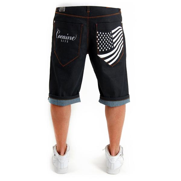 Stars & Stripes Shorts Raw Blue - 38