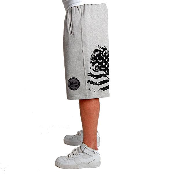 US Fleece Short Grey Black - 3XL