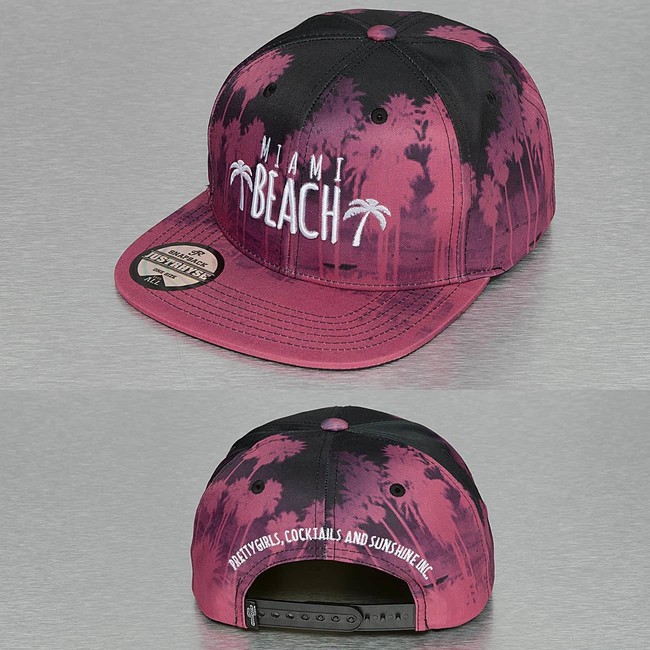 Just Rhyse Miami Beach Snapback Cap Red - Gangstagroup.com - Online ... 80f420eaff78