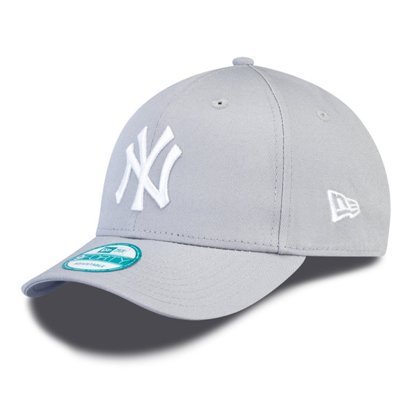 9530fc8e305 Kids NEW ERA 9FORTY YOUTH MLB LEAGUE BASIC NEW YORK YANKEES GREY WHITE