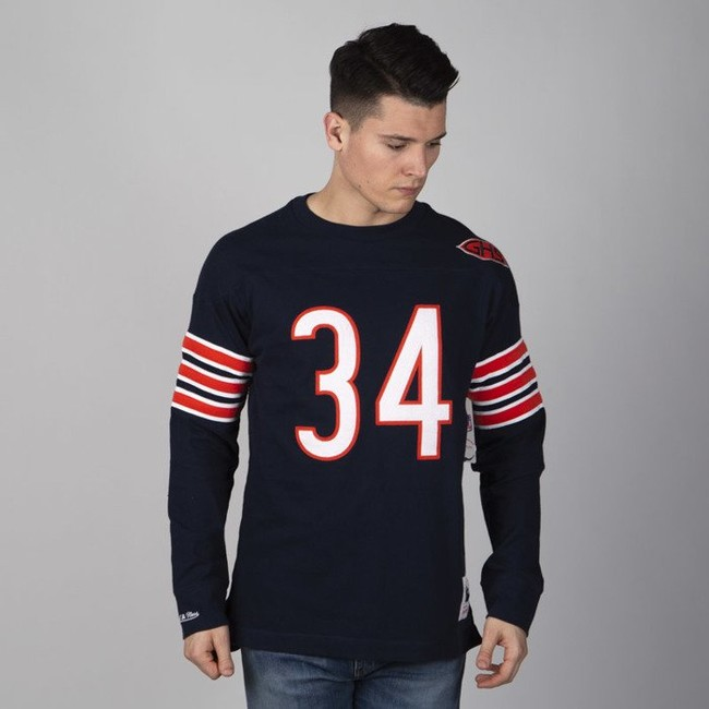 quality design b7272 5a574 Mitchell & Ness longsleeve Chicago Bears navy Name & Number ...