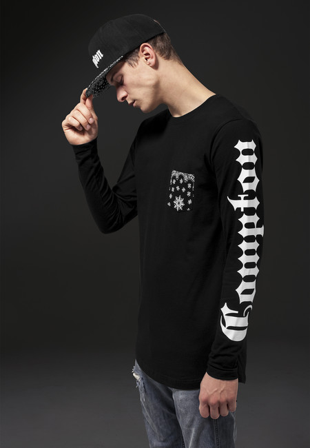 Mr. Tee Compton Pocket Bandana Longsleeve black - Gangstagroup.com ... 51fb98cdd5