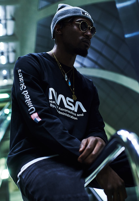 Mister Tee NASA Us Crewneck su/éter para Hombre