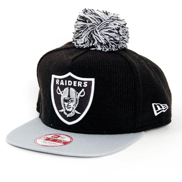 9Fifty Bobble Game Oakland Raiders Snapback Black Grey - S–M