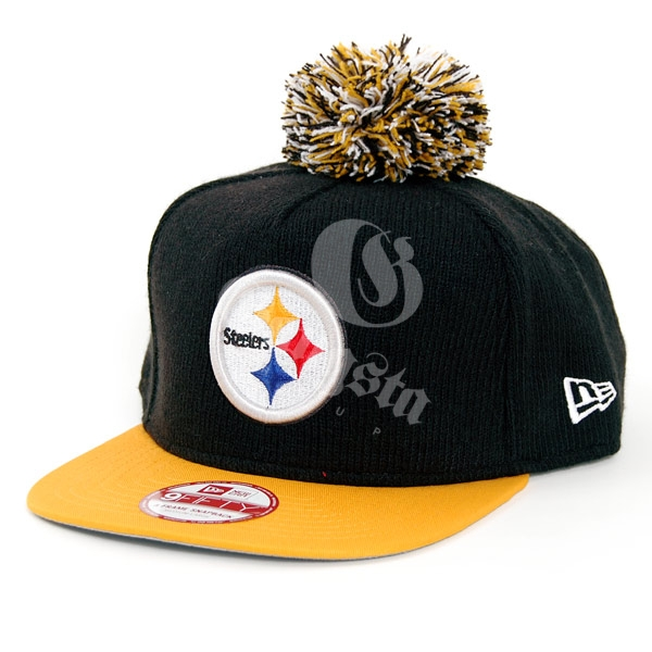 9Fifty Bobble Game Pittsburgh Steelers Snapback Black Yellow - M–L