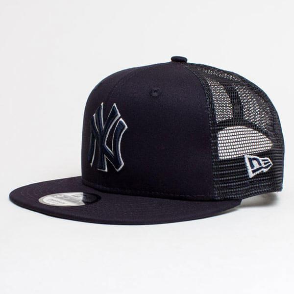 New Era 9Fifty MLB League Essential Trucker Cap NY Yankees Black ... 63425b51bd4e