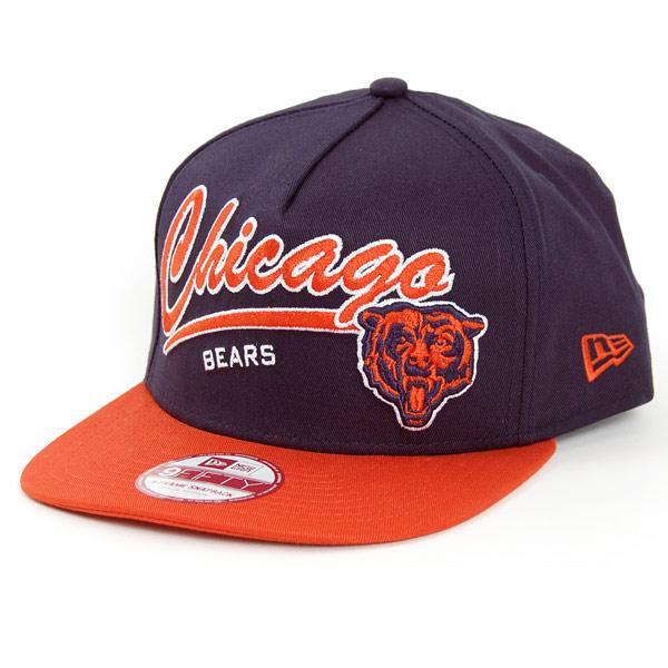 9Fifty Script Logo Chicago Bears Snapback Navy Orange - M–L